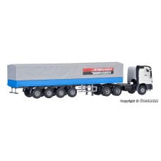 H0 MB ACTROS 3-axle with tarpaulin semi-trailer and cargo