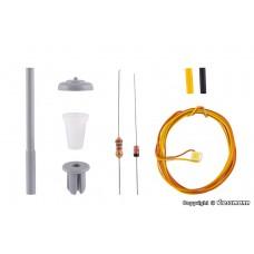 H0 Street light, LED white, kit