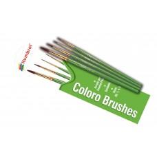 Coloro Brush Set 00, 1, 4, 8
