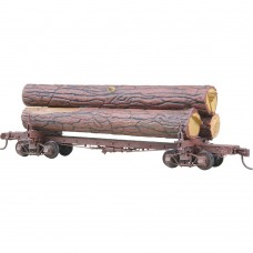 #102 HO Scale Skeleton Log Car with logs Kit
