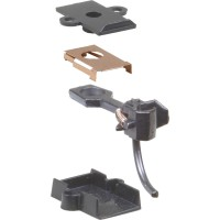 "#5 HO Scale (NO.5®) Universal Metal Couplers with Gearboxes - Medium (9/32"") Centerset Shank"