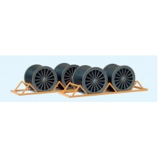 Cable drums and transport racks