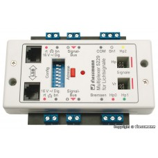 Multiplexer for colour light signals with multiplex-technology